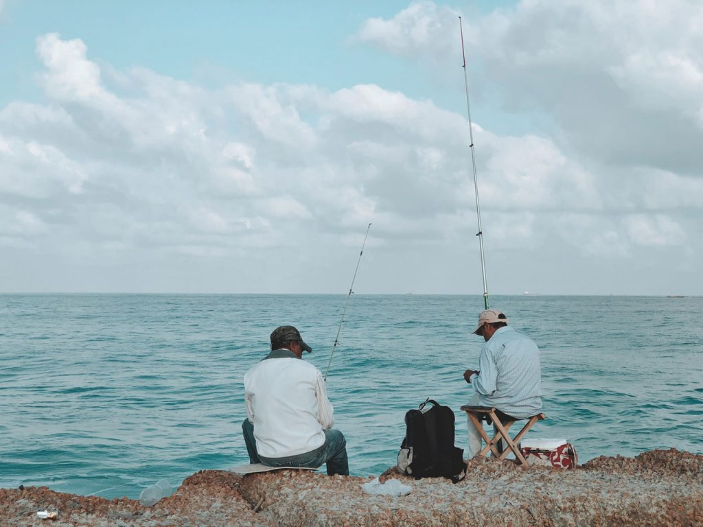 People Sea Fishing